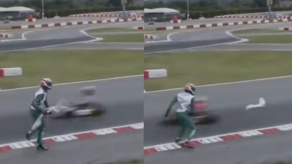 Follia ai go kart: lancia l'alettone contro l'avversario e scoppia la rissa
