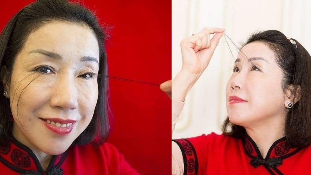"""La donna con le ciglia più lunghe del mondo: misura record """"donata da Buddha"""""""